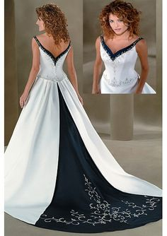 possible way to make the skirt fuller #Blue Wedding Dresses