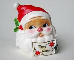 Very nice vintage Josef Santa Claus napkin holder measures 4 high and 4 across. Great shape with some light wear to the cold paint. Please see my other listings & thanks Christmas Napkins, Christmas Dishes, Christmas Figurines, Christmas Kitchen, Christmas Time, Merry Christmas, Christmas Ornaments, Table Accessories, Pixies