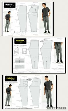 Best 10 12 enchanting sewing patterns clone your clothes ideas – SkillOfKing. Mens Sewing Patterns, Clothing Patterns, Sewing Pants, Sewing Clothes, Fashion Sketch Template, Underwear Pattern, Mens Sweatpants, Joggers, Jacket Pattern