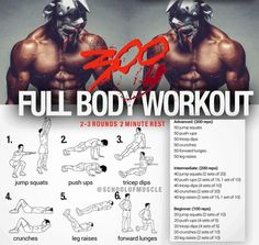 300 Full Body Workout ! Healthy Fitness Training Plan