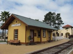 Old Colma Railroad Station | Restored | In 1863-65, Southern Pacific constructed the passenger depot adjacent to the Schoolhouse Stop. The passenger depot was necessary to shelter passengers. The station was where the farmers and teamsters stopped on their way to San Francisco.