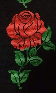 Butterfly Cross Stitch, Cross Stitch Rose, Cross Stitch Flowers, Cross Stitch Charts, Cross Stitch Embroidery, Cross Stitch Patterns, Crochet Motifs, Filet Crochet, Crochet Bedspread