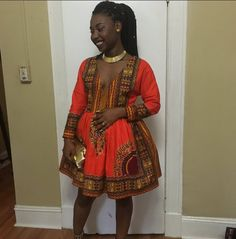 This totally fly mini wax print look. | 18 Beautiful African Prom Dresses That'll Give You Goals