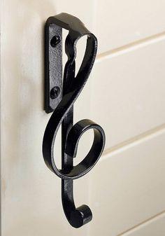 Cupboard handle treble clef