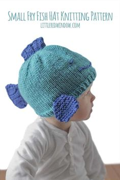 cd926e8d7f2 Knit up an adorable fish hat for your small fry with this easy knitting  pattern for