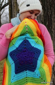 Free Crochet Pattern Baby Carrier : Rainbow Crochet Blankets on Pinterest Rainbow Crochet ...