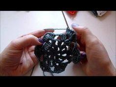 Serviettenhalter - Serviettenring häkeln - crochet - Stern - Star - Anfänger