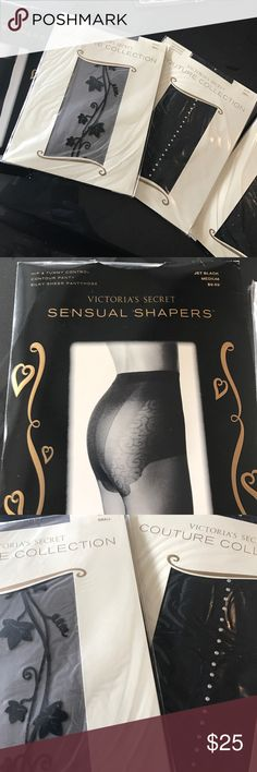 Pantyhose Victoria Secret pantyhose. Couture Collection, 3 pair, all size Small. Sensual Shapers, 1 pair, size Medium. Victoria's Secret Accessories Hosiery & Socks