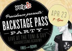 Yelp Providence's Backstage Pass.