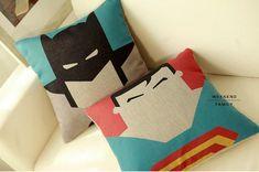 Batman Superman cushion Ready to use Creative by WeekendFamily, $23.82