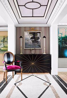 Entrance of a Shanghai Apartment. Interior by Baptiste Bohu