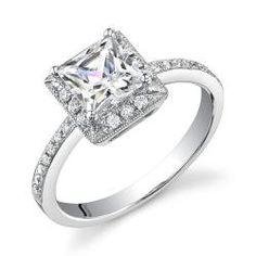 18k White Gold 1ct TDW Certified Diamond Engagement Ring (I, SI3) $3,499.99