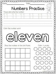 Flying into First Grade: Numbers 11 - 20 Teaching Numbers, Numbers Preschool, Math Numbers, Preschool Worksheets, Math Resources, Teaching Math, Math Activities, Writing Numbers, Preschool Writing