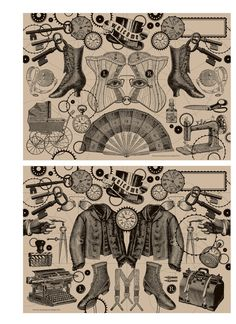 Steampunk placemats