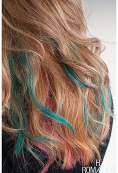 How to rainbow color your hair for the weekend You can use artists chalk from an art supply or craft store. It is the same thing and much cheaper than the stuff sold as hair chalk.  #hair #color #chalk