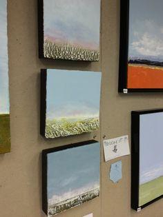 Encaustic landscapes, small-scapes - latest paintings from the studio #encaustic #landscape. artist: Ruth LaGue www.laguewax.com