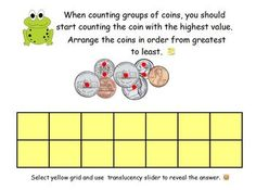 This ActivInspire flipchart is a complete, scaffolded, and systematic way to teach your students about coins using Magic Money dots. My store is off to Classroom Money, Math Classroom, Kindergarten Math, Teaching Math, Counting Coins, Skip Counting, Money Activities, Literacy Activities, Math Help