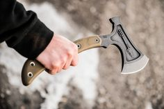 "If you need a solid camping tool that can also smash stuff (e.g., zombies) when needed, the Hammer Hawk is your boy. Made of a full-tang, 3/8"" thick pie..."