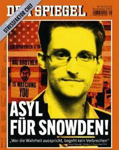 """""""Asile pour Snowden !"""" • Der Spiegel prend position pour Snowden, """"l'allié le plus courageux de l'Allemagne"""