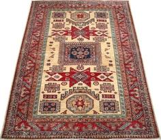 Beige Kazak Carpet/Rug No. 4877  http://www.alrug.com/4877