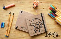 """Artículo Único Sketchbook Brooja """"Link"""" Autor: Suupergirl Formato: 11x11 cm 72 hojas Papel bond ahuesado 90 gr Pasta blanda papel kraft sena. Pide el tuyo en: https://www.kichink.com/stores/brooja   #brooja #sketchbook #notebook #kraft #libreta #cuaderno #zelda #illustration #ilustración #sharpie #suupergirl"""