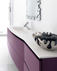 Custom made bathroom furniture. Vela collection