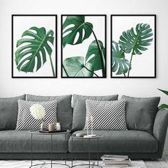 Living Room Green, Home Living Room, Plant Art, Plant Decor, Home Wall Decor, Bedroom Decor, Leaf Art, Wall Art Pictures, Lock Screen Wallpaper