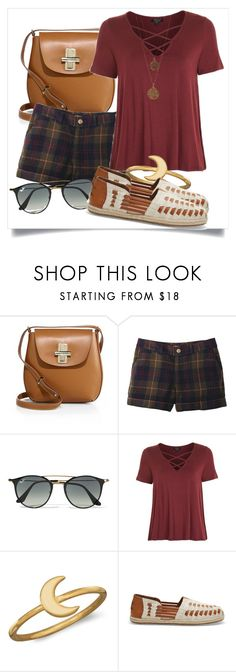 """""""TOMS Desert Taupe Slubby Linen Women's Huarache Espadrilles Shoes"""" by aannggiiee ❤ liked on Polyvore featuring Jason Wu, Ray-Ban, Topshop, BillyTheTree, TOMS and Bee Charming"""