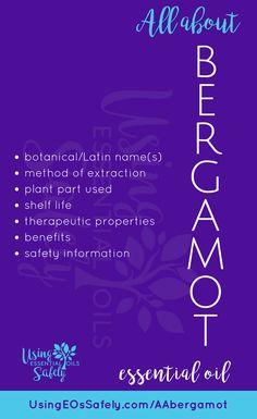 All About Bergamot Essential Oil Bergamot Essential Oil, Essential Oils, Parts Of A Plant, Healing Herbs, Benefit, Essentials, Health, Health Care, Medicinal Plants