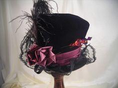 Elsie Massey Store - New Mini Mad Hatter in Black & Plum