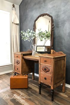 With sandpaper and a little elbow grease, you can turn your antique pieces into beautiful raw wood furniture that you can use in your modern farmhouse.