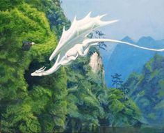 The White Dragon by solarisa on DeviantArt : For me, a strong symbol of luminous beauty and powerful energy that appeared in my meditations. Upward flow and undulation similar to snake, but different. More feminine. More graceful. Mythical Creatures Art, Mythological Creatures, Magical Creatures, Fantasy World, Fantasy Art, Cool Dragons, Dragon Artwork, Dragon Pictures, White Dragon