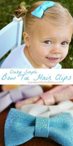 Crazy Simple Bow Tie Hair Clip Tutorial