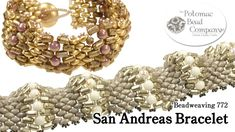 * Video: San Andreas Bracelet.  What did we do before 2-hole beads?  #Seed #Bead #Tutorials