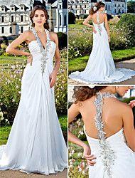 Lanting Bride®  Menyasszonyi ruha - Klasszikus és időtlen / Elbűvölő és drámai Ragyogó & csillogó /