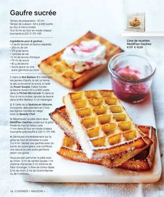 Tupperware Belgium—page 14 Waffle Recipes, Snack Recipes, Cooking Recipes, Snacks, Desserts With Biscuits, Mini Desserts, Healthy Toddler Breakfast, My Favorite Food, Favorite Recipes