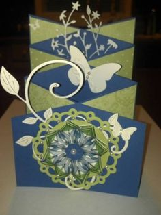 Cascading Card by stampingbug01 - Cards and Paper Crafts at Splitcoaststampers