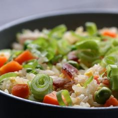 """Microwave """"fried"""" Rice by Tasty"""