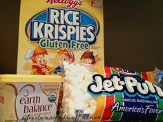 Dairy Free and Gluten Free Rice Krispy Treat Ingredients