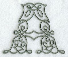 Celtic Knotwork Letter A - 3 Inch