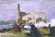 Lucien Simon - La Chapelle de la joie à Penmarc'h, 1913