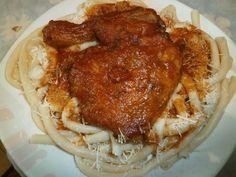 Κόκορας παστιτσάδα Greek Recipes, Chicken, Meat, Heaven, Food, Happy, Sky, Heavens, Essen