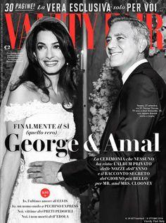Vanity Fair (Italy) October 2014 featuring George & Amal Clooney