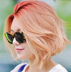 Short Straight Hairstyles - Ombre Bob Haircut