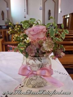 Vintage Style Wedding at Dungarvan Church Co KK Vintage Inspired, Vintage Style, Vintage Fashion, Church Wedding, Table Decorations, Inspiration, Home Decor, Biblical Inspiration, Fashion Vintage