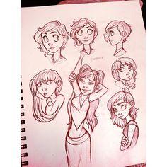 Night sketching  #angiensca #sketch #girls #doodle #sketchbook