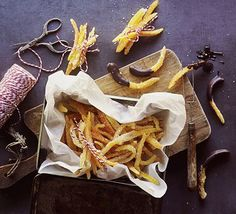 Candied orange and lemon peel will keep for weeks in an airtight container. Chop and add to fruitcakes, muffins or other treats Holiday Baking, Christmas Baking, Christmas Recipes, Christmas Cookies, Bbc Good Food Recipes, Cooking Recipes, Food Tips, Food Ideas, Vegan Recipes
