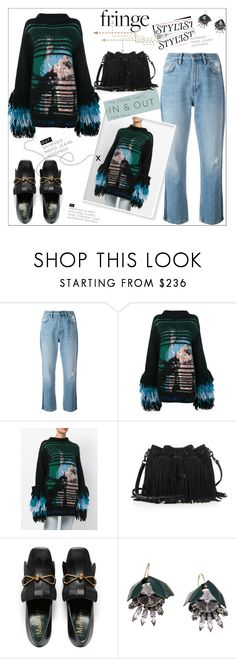 """""""Shimmy Shimmy: Fringe"""" by faten-m-h ❤ liked on Polyvore featuring M.i.h Jeans, Off-White, Rebecca Minkoff, Marni and fringe"""