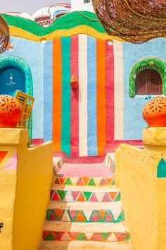 The most colorful village in Egypt! Can you believe this is a real place? Here's everything you need to know about visiting Nubia, the incredible Nubian Village near Aswan, Egypt. Luxor Egypt, Egypt Map, African House, Egypt Travel, Funny Tattoos, Egyptian Art, Happy House, British Museum, Ink Drawings