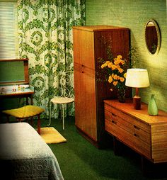 bedroom on a budget 1960s